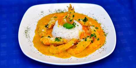 Prawns Curry with Coconut Rice